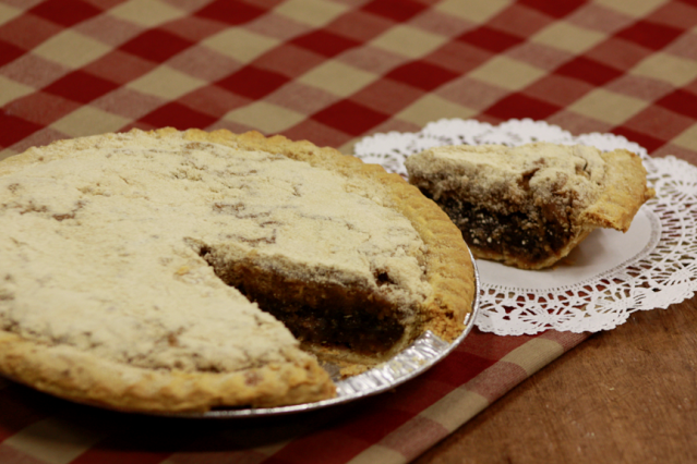 ... bottom shoofly pies made by a local bakery. Pies are 9'' deep dish