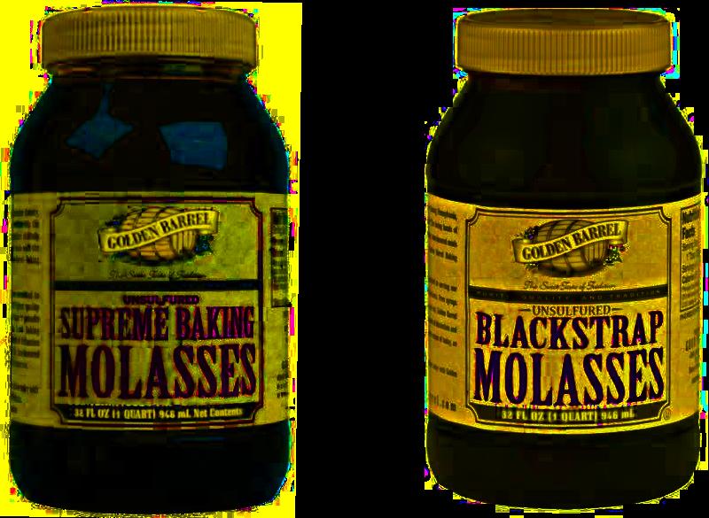 Golden Barrel Supreme Baking Molasses vs. Golden Barrel Blackstrap Molasses