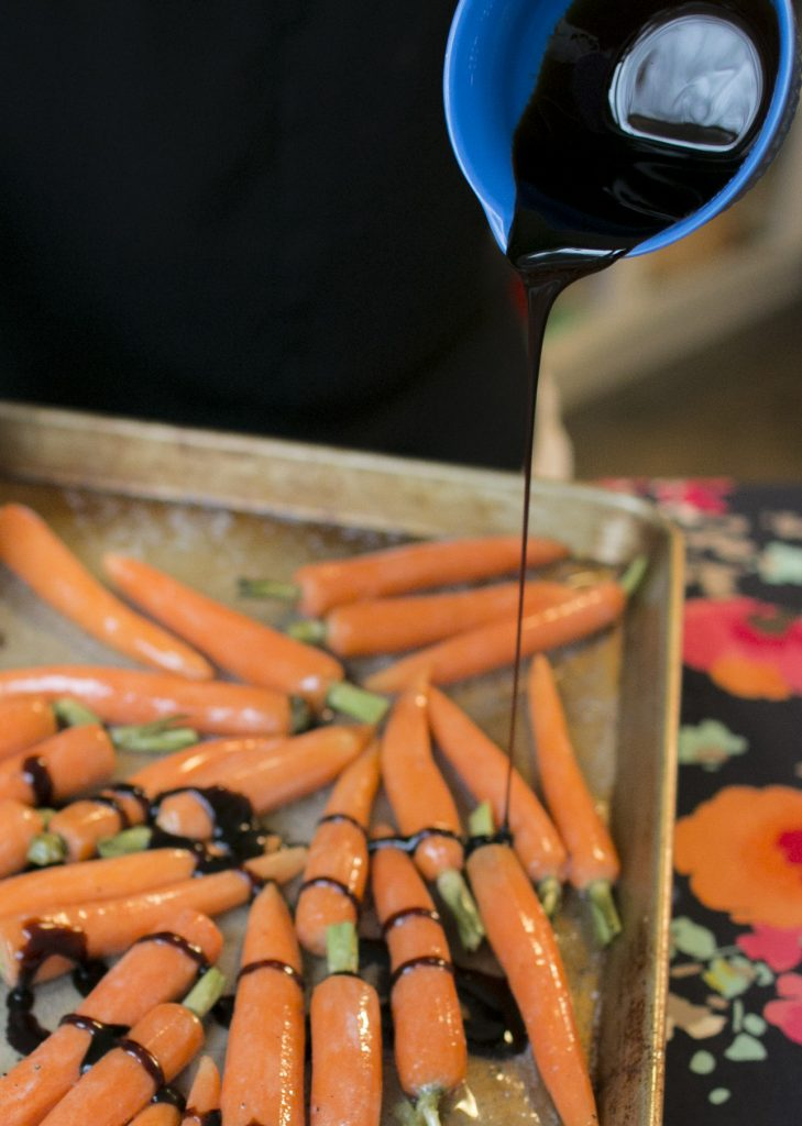 Pouring Molasses on Carrots
