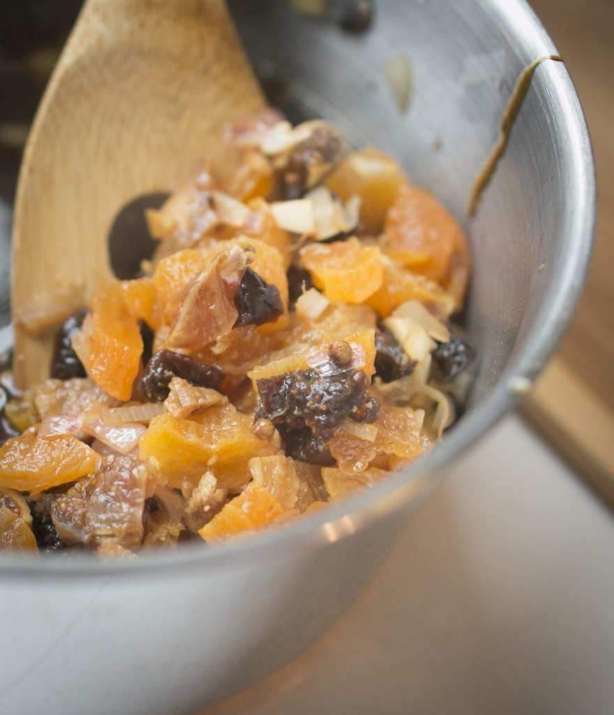 Mixing Dried Fruit in Bowl