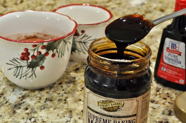 Golden Barrel Supreme Baking Molasses on a Spoon