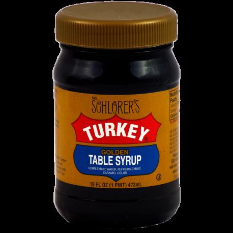 Mrs. Schlorer's Turkey Golden Table Syrup
