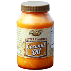 small jars of wholesale butter flavored coconut oil