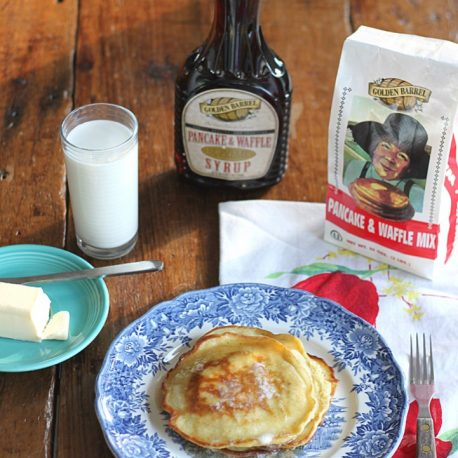Golden Barrel Pancake Mix and Syrup