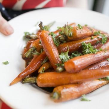 Parsley and Molasses Glazed Carrots