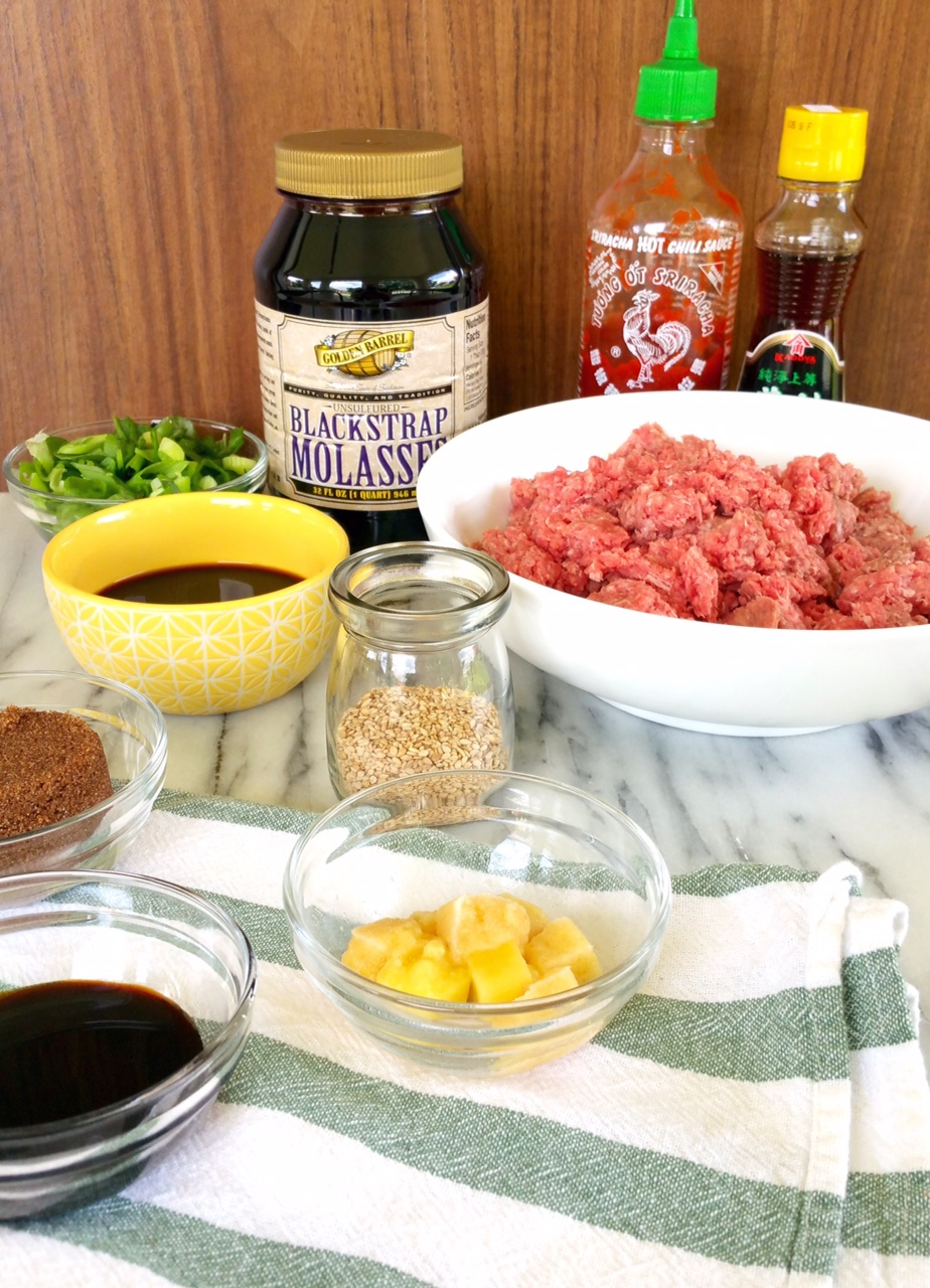 Ingredients to make Korean Lettuce Wraps