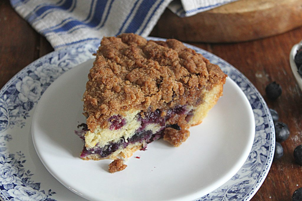 Slice of Blueberry Crumb Cake