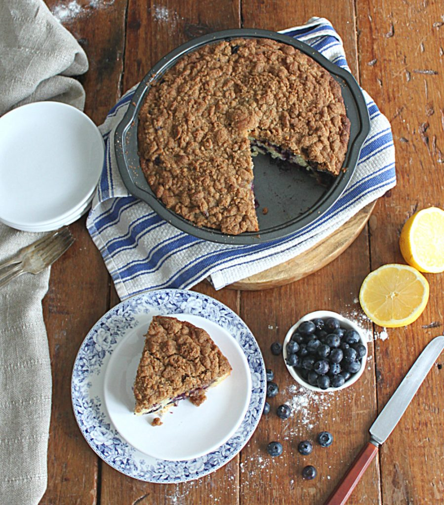 Blueberry Crumb  Cake made with Golden Barrel Light Brown Sugar