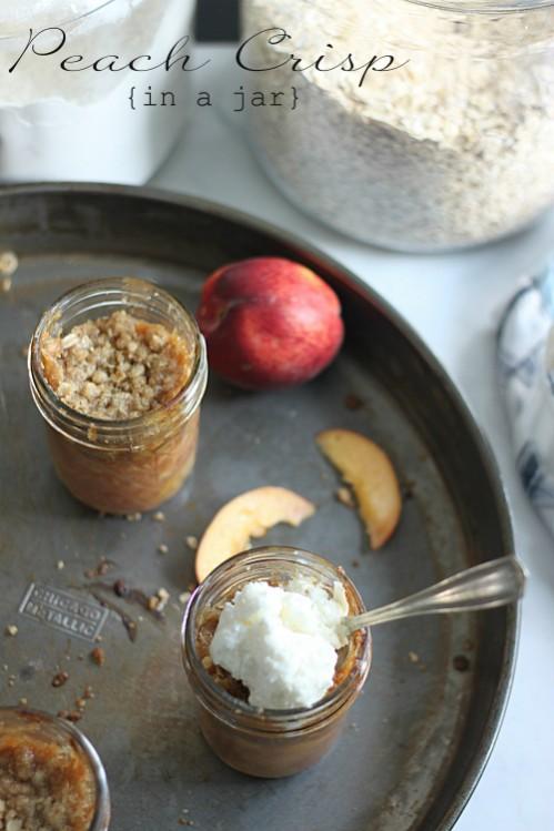 Peach Crisp in Individual Jars Recipe