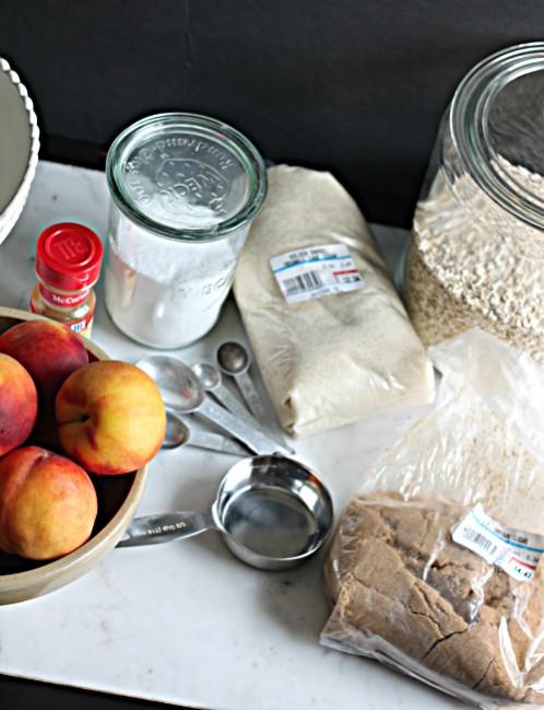 Ingredients to Make Peach Crisp