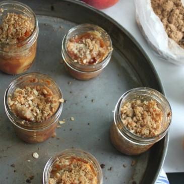 Peach Crisp in a Jar