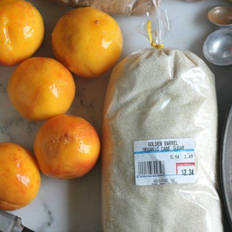 Peaches and Organic Sugar