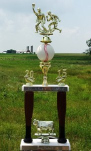 Softball trophy for 3rd place