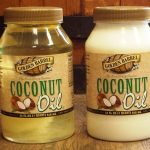 Melted and Solid Golden Barrel Coconut Oil