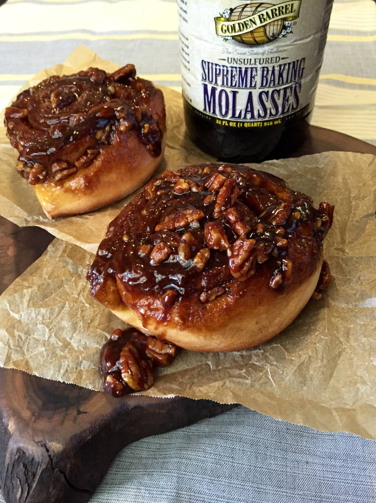Sticky Buns made with Golden Barrel Supreme Baking Molasses