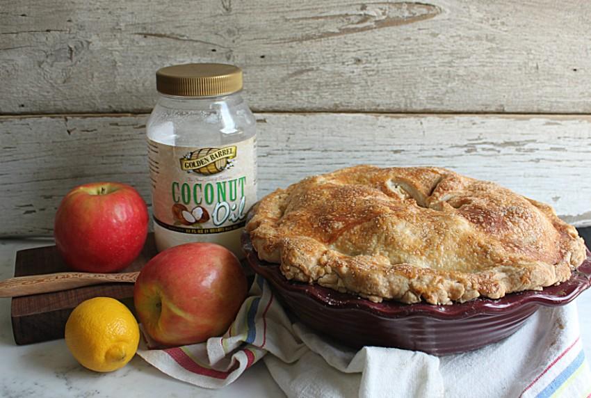 Golden Barrel coconut oil used to make pie crust