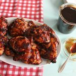 Grilled Chicken with Homemade Molasses BBQ Sauce