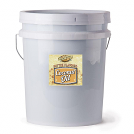 Golden Barrel Butter Flavored Coconut Oil 5 Gallon Pail