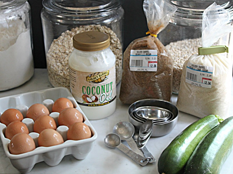 Golden Barrel Ingredients to make Zucchini Bread