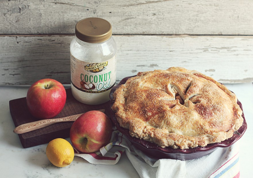 Apple Pie made with Coconut Oil