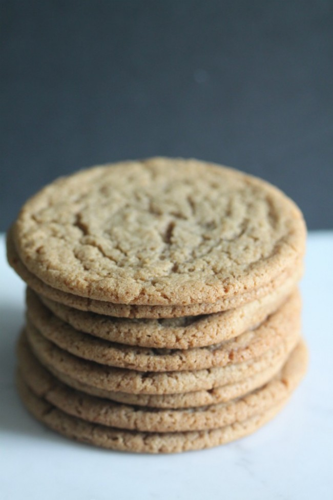 Stack of Brown Butter Sugar Cookies