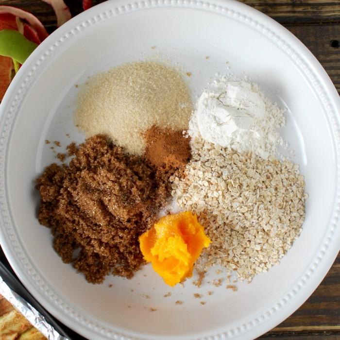 Ingredients for Apple Crumb Bars