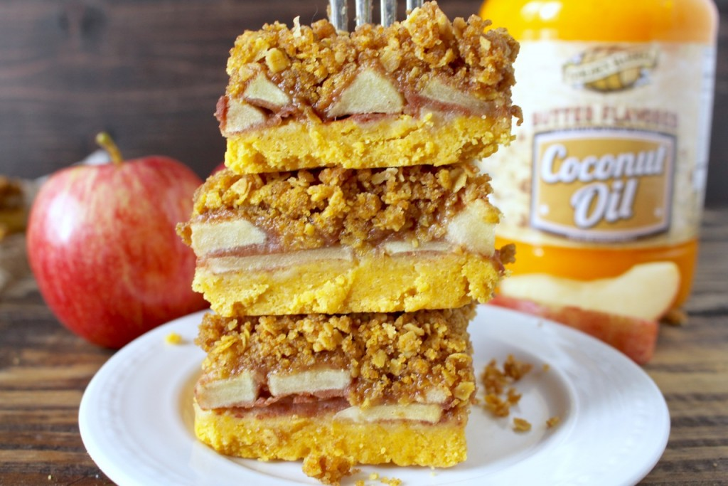 Apple Crumb Bars made with Golden Barrel Butter Flavored Coconut Oil