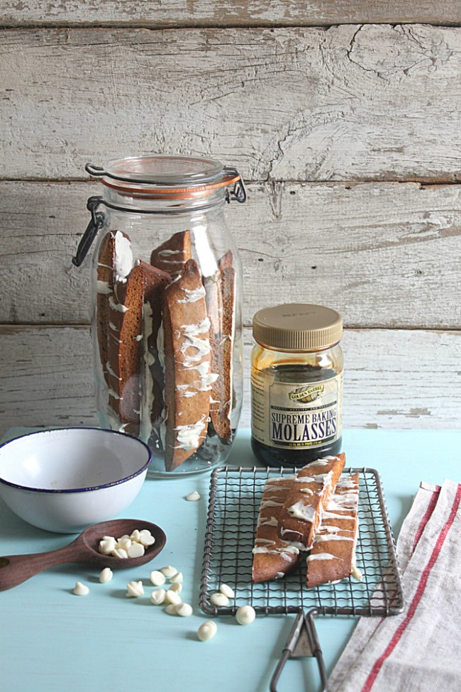 Gingerbread Biscotti made with Golden Barrel Supreme Baking Molasses