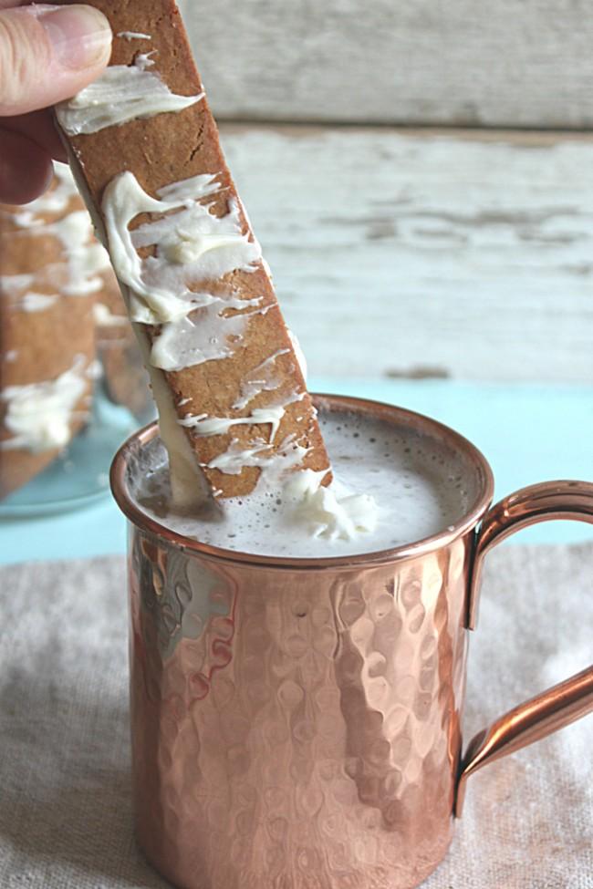 Gingerbread Biscotti recipe (dipped in Milk)