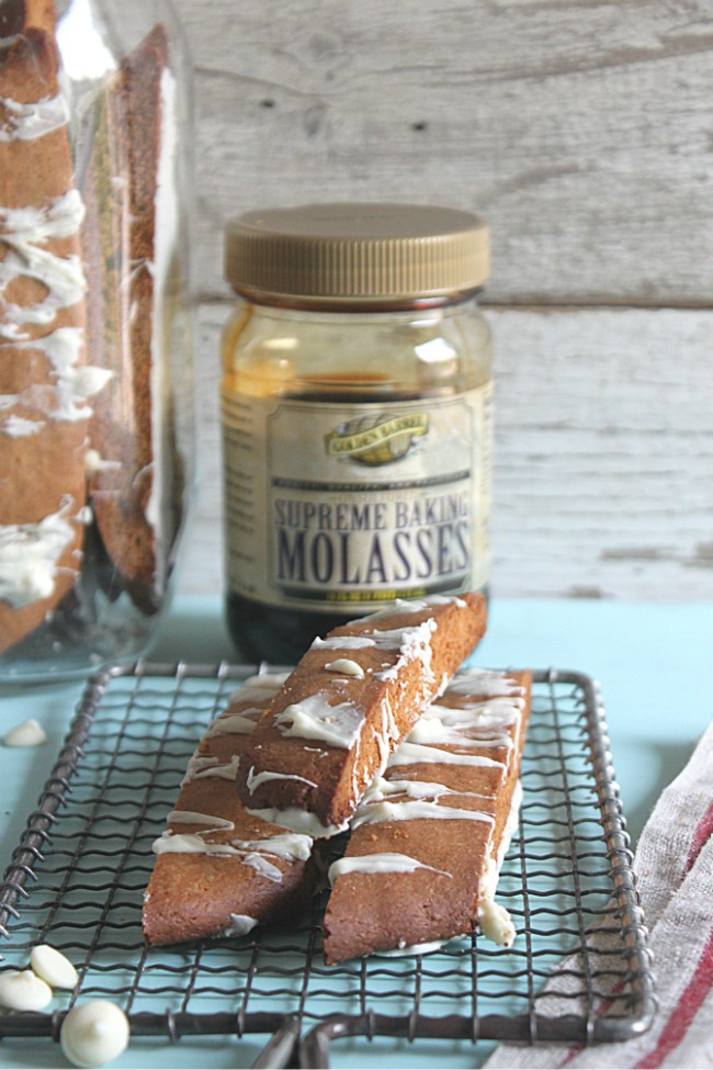 Gingerbread Biscotti made with Supreme Baking Molasses