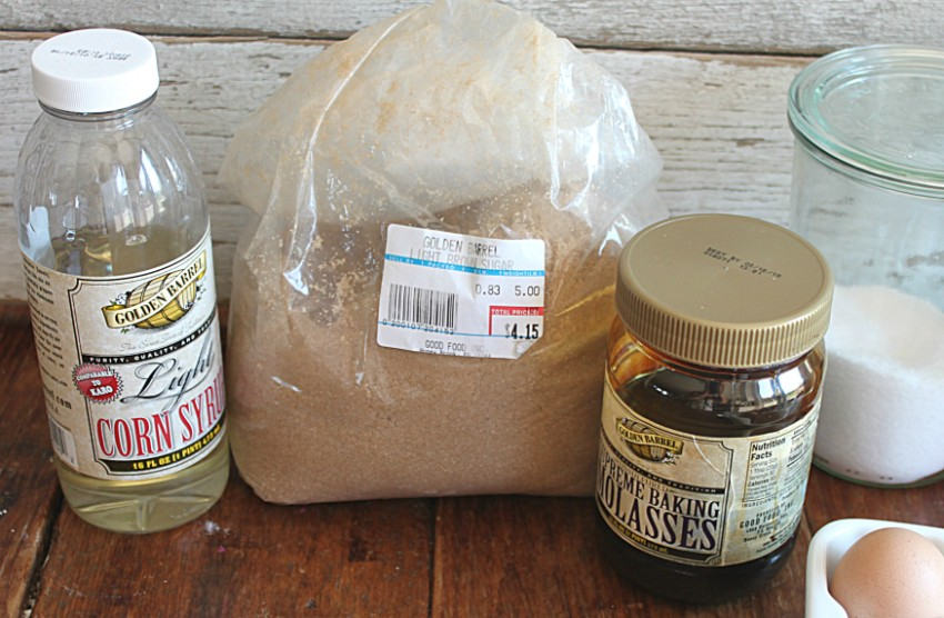 Ingredients for Pecan Bars