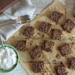 Pecan Bars with Whipped Cream