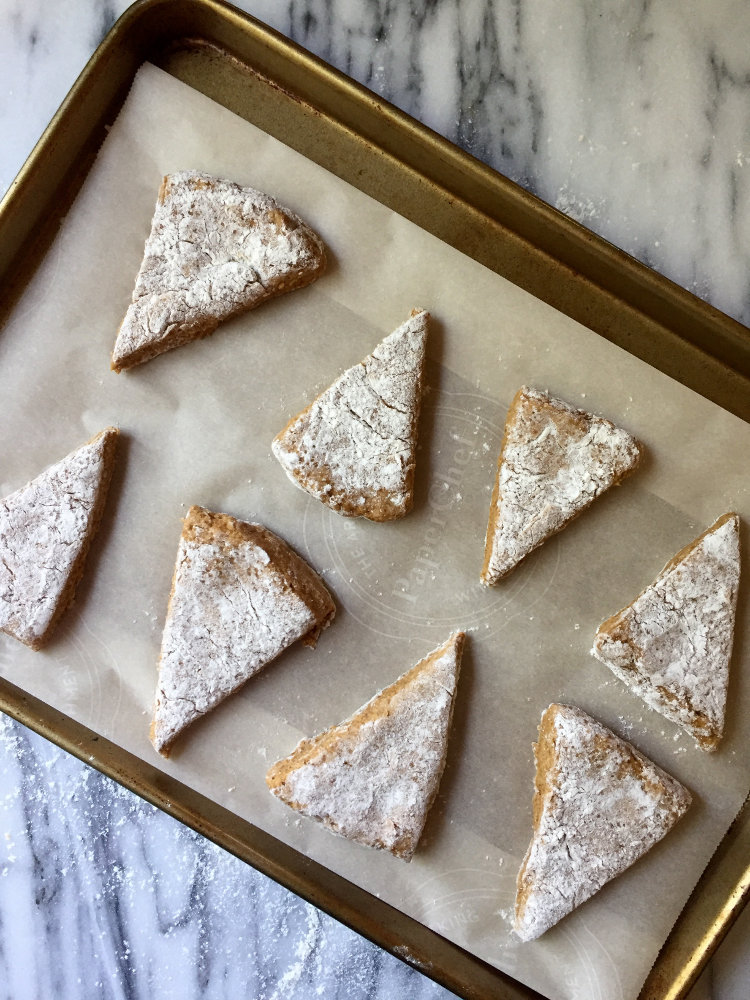 Cut into triangles to make Pumpkin Scones