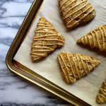 Pumpkin Scones with Molasses Glaze