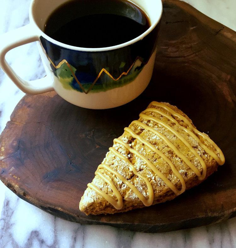 Coffee and Pumpkin Scone