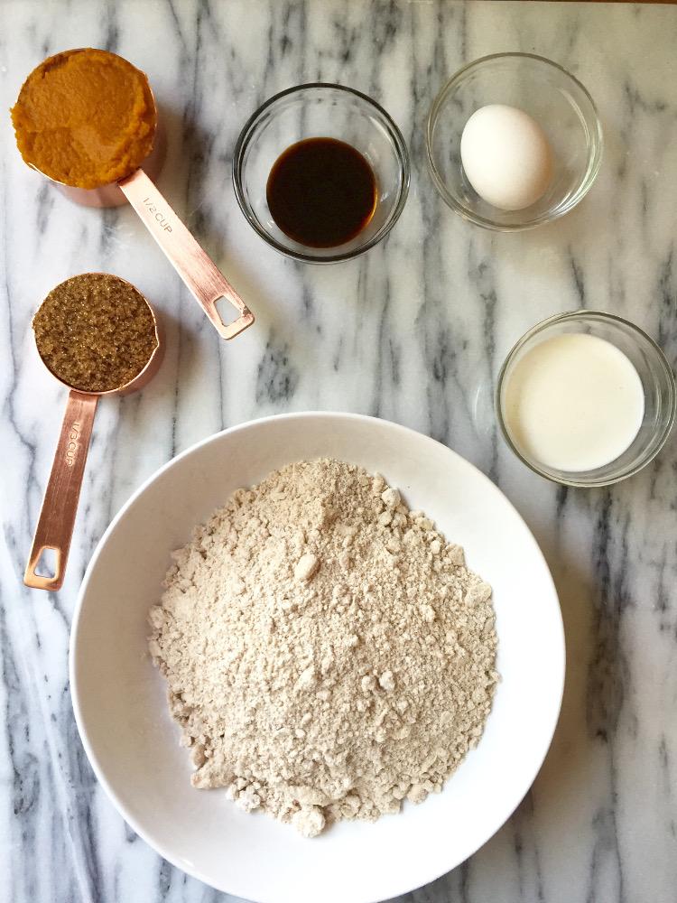Ingredients for making Pumpkin Scones