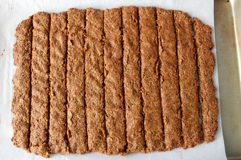 Cut Strips to make Oat Bran Cereal
