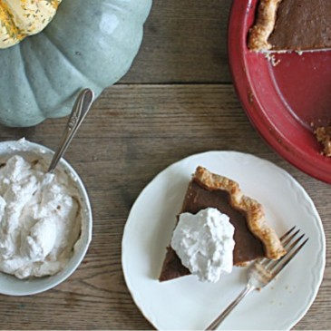 Pumpkin Pie with Maple Cinnamon Whipped Cream