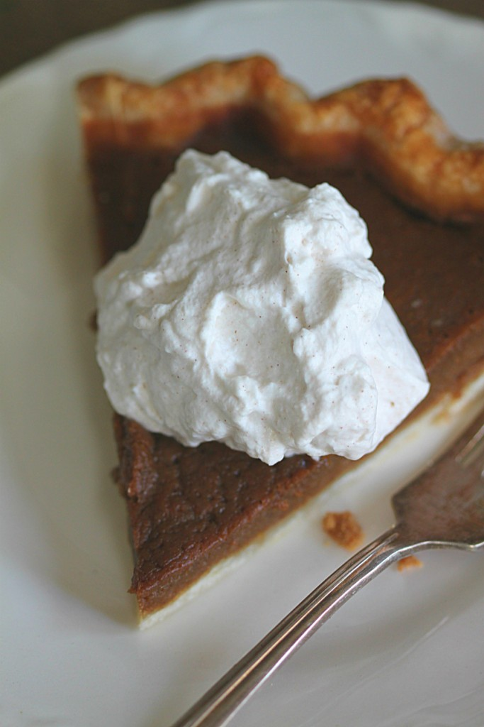 Pumpkin Pie with Maple Cinnamon Whip Cream