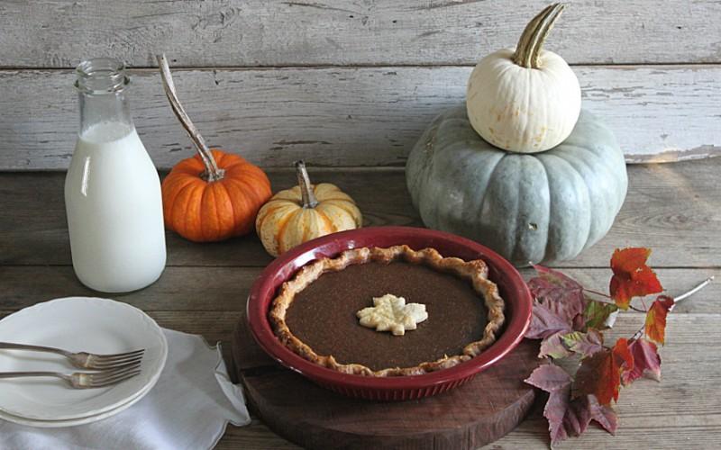 Dark Brown Sugar Pumpkin Pie with Maple Cinnamon Whipped Cream