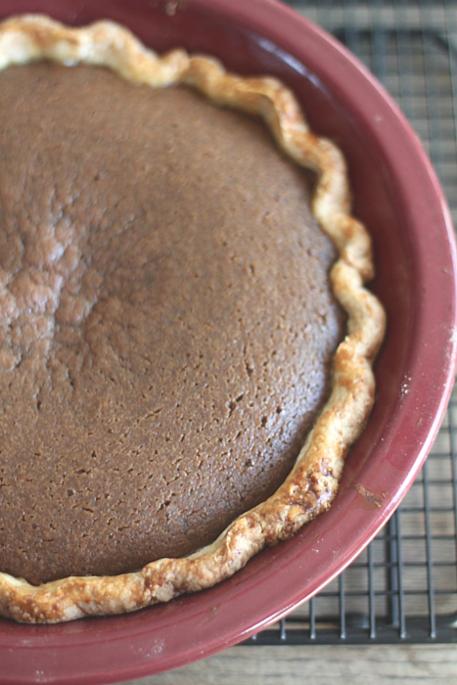 Dark Brown Sugar Pumpkin Pie