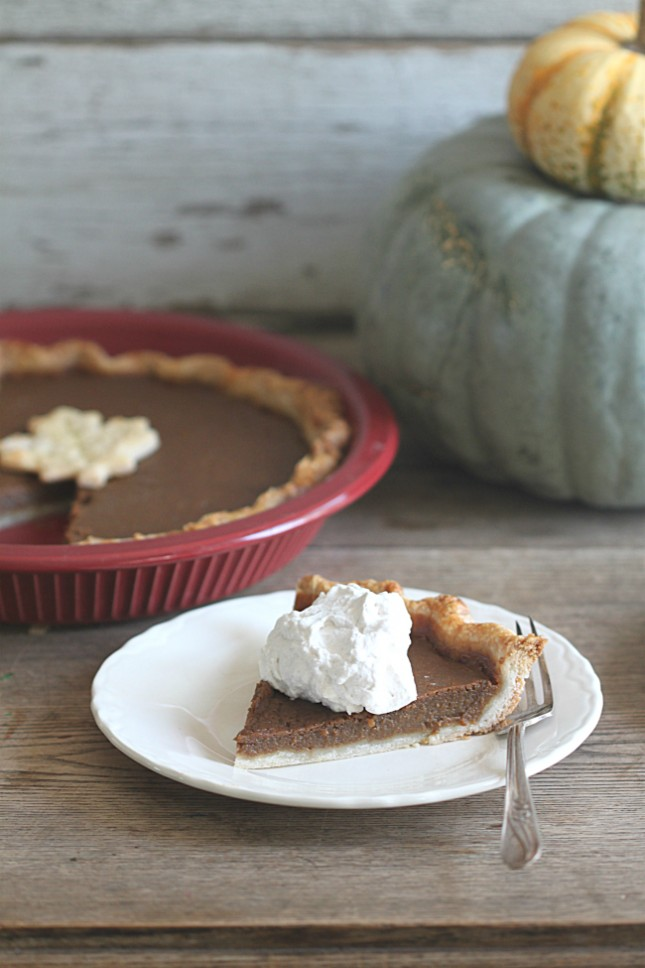 Dark Brown Sugar Pumpkin Pie with Maple Cinnamon Whipped Cream
