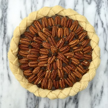 Maple Dark Chocolate Pecan Pie