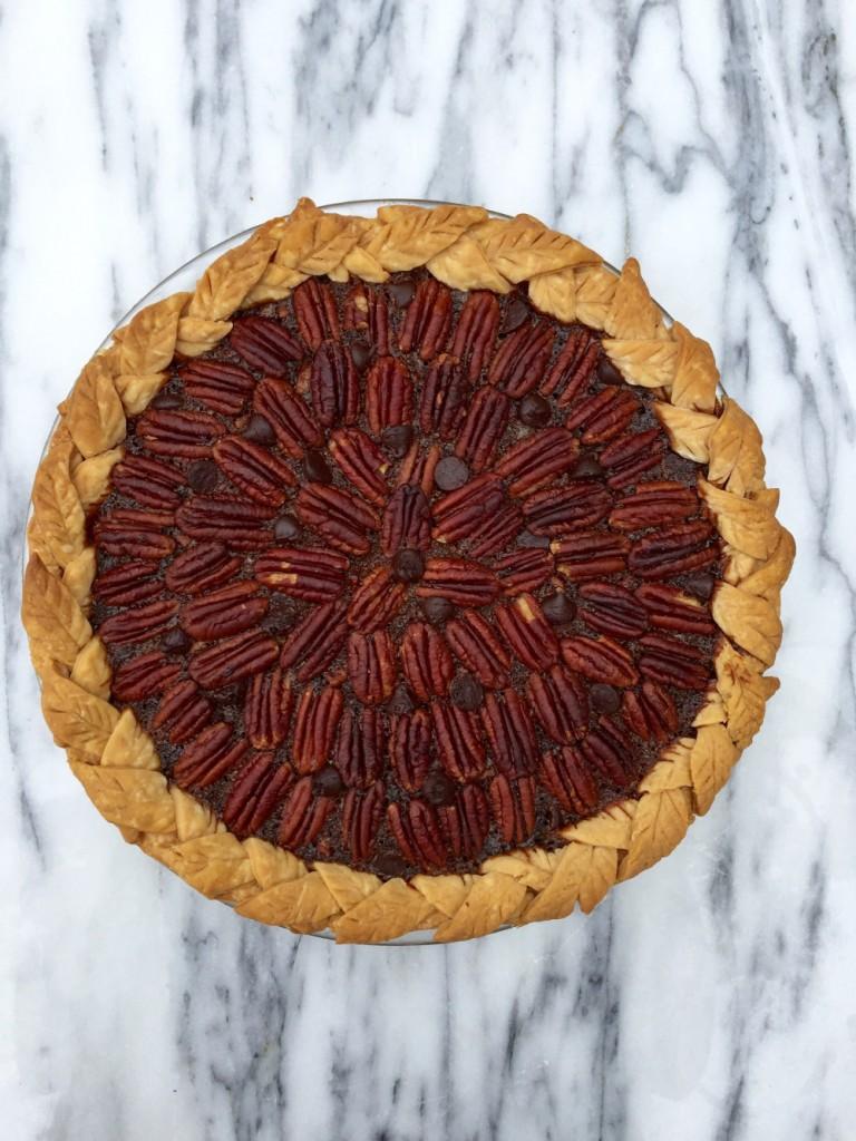 Maple Dark Chocolate Pecan Pie