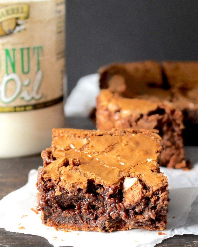 Brownies made with Golden Barrel Coconut Oil