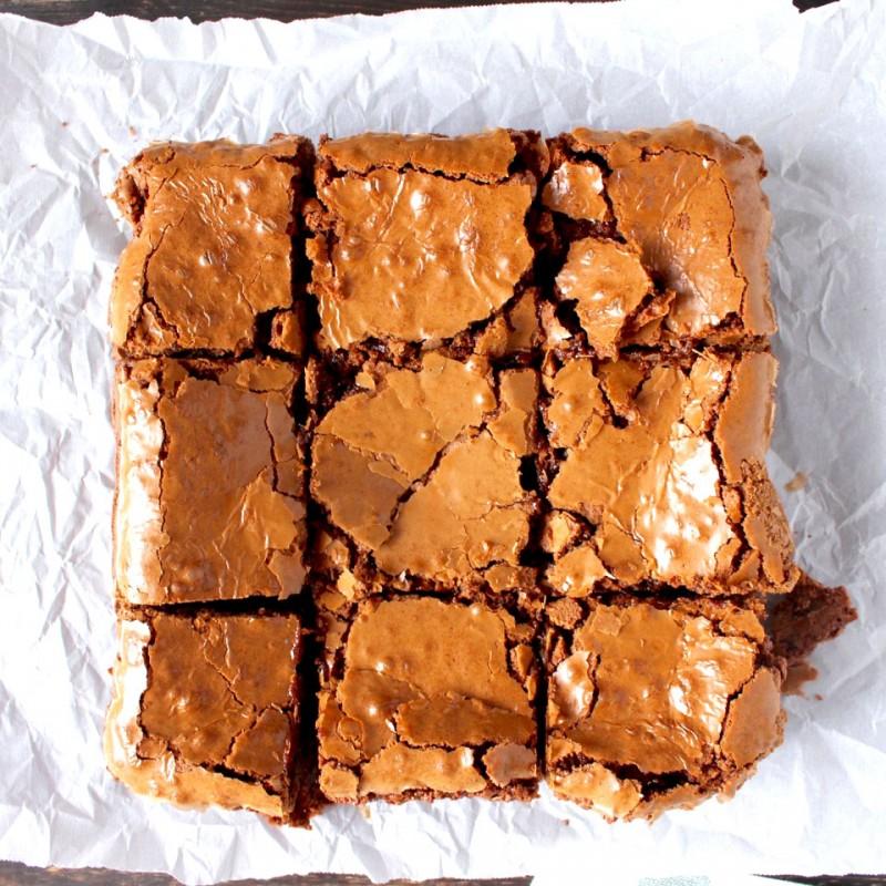 Crackly Top Brownies