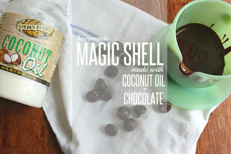Coconut Oil Ice Cream Magic Shell