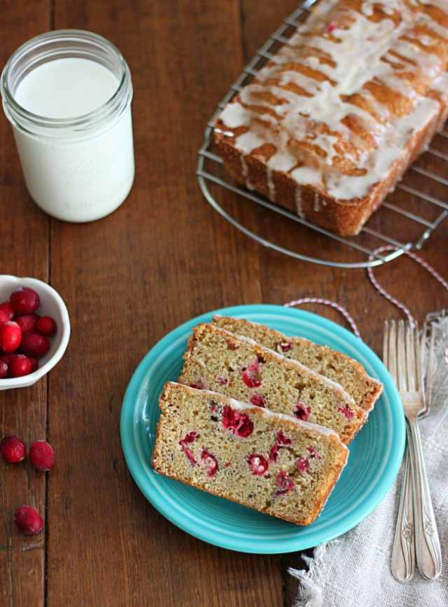 Yummy Cranberry Orange Bread on a Table
