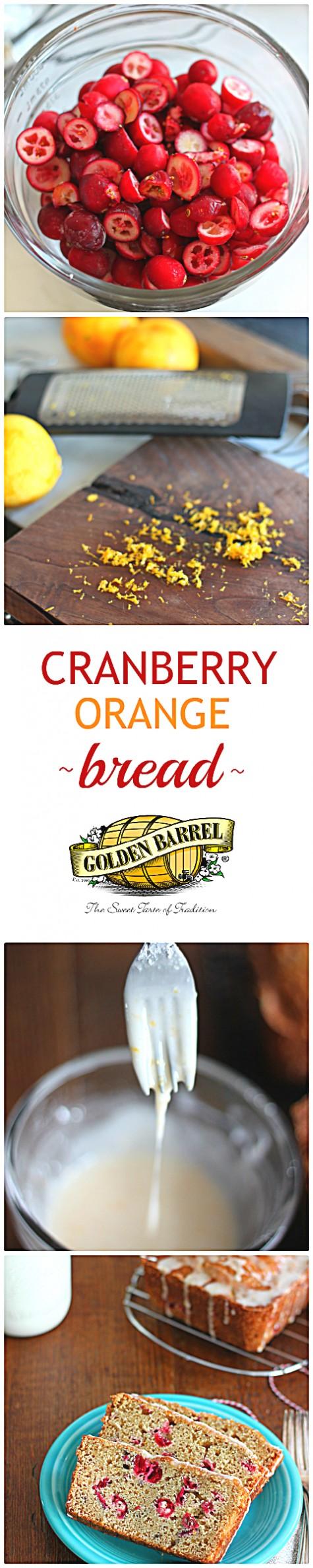 Cranberry Orange Bread with Orange Glaze - Golden Barrel
