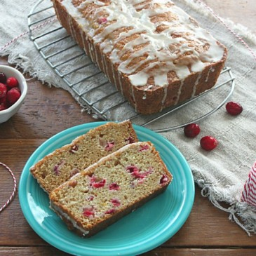 Cranberry Orange Bread with Orange Glaze